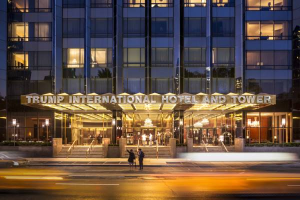 Trump international hotel new york front entrance