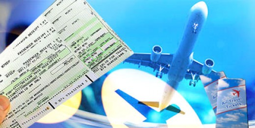 Booking Cheap Flights showing tickets