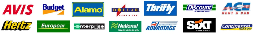 Hire a Car Logo's. Rent a car with top rental car companies